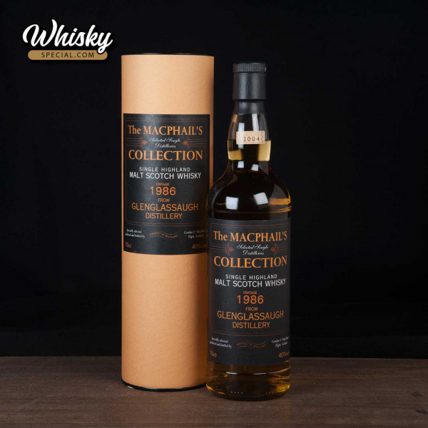 Glenglassaugh, 1986 GM, The MacPhail's Collection, front